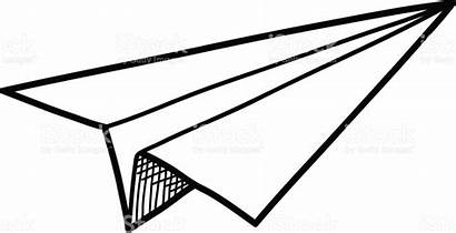 Airplane Paper Clipart Origami Doodle Plane Station
