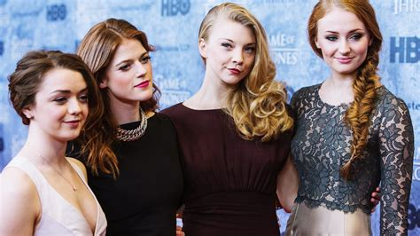 Along with Maisie Williams, Rose Leslie, and Sophie Turner ...