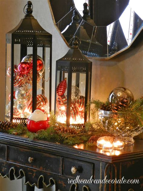 christmas lanterns primitive decor pinterest