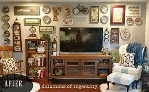 13 low budget ways to decorate your living room walls With how to decorate a living room wall