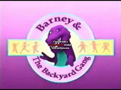 Barney And The Backyard Theme Song by Barney Intro 1988 1991 1988 Style