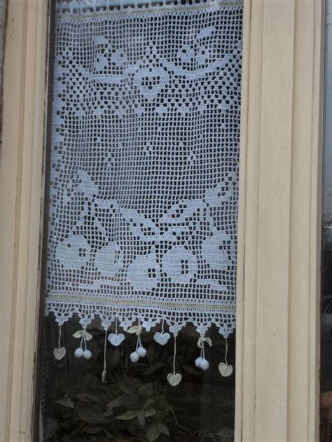 modele rideau crochet gratuit 17 best images about crochet curtain perde on kitchen curtains filet crochet and