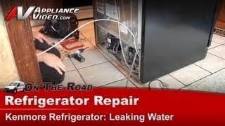 refrigerator diagnostic repair water leaking kenmore