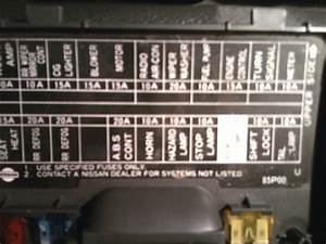 1996 Nissan Pickup Fuse Box Diagram