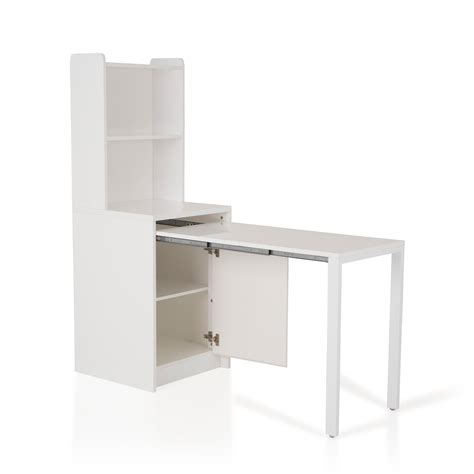 table de cuisine retractable buffet en bois avec table à manger à rallonge largeur 155 cm