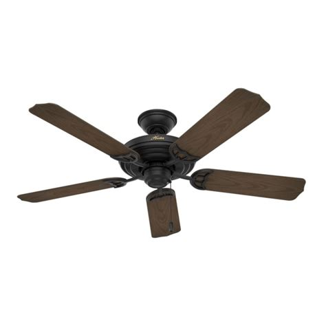matte black ceiling fan with light hunter fan company sea air textured matte black ceiling