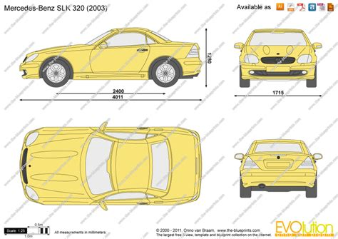 mercedes benz slk   vector drawing