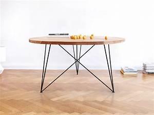 Tisch Rund 160 Cm : runder esstisch massive eiche stahlgestell verschiedene gr en stil ~ Bigdaddyawards.com Haus und Dekorationen
