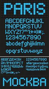 Address Cards Templates Led Board Font Vector Vector Graphics Blog