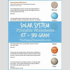 Solar System Worksheets Free Printables  The Happy