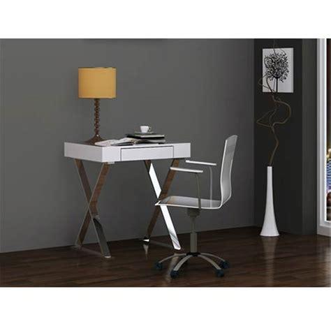 small modern writing desk elm high gloss white small desk whiteline modern living