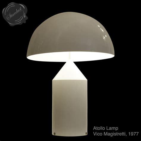 oluce atollo  table lamp  vico magistretti stardust