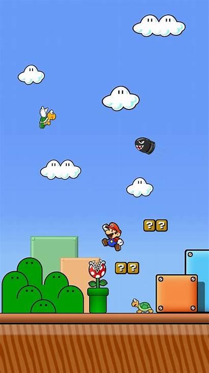 Mario Bit Wallpapers Iphone Super Purple Cartoon