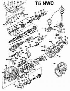 Borg Warner T5 Parts Diagram