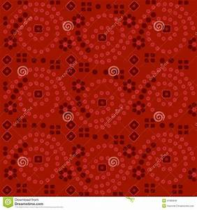 Red Indian Fabric Background Stock Vector - Image: 41983646