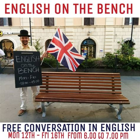 panchina in inglese due chiacchiere in inglese sulla panchina centumcellae news