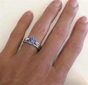natural ceylon sapphire solitaire engagement ring and With solitaire ring with plain wedding band