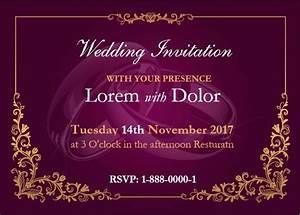 professionally design wedding invitation card template With wedding invitation card format in ms word