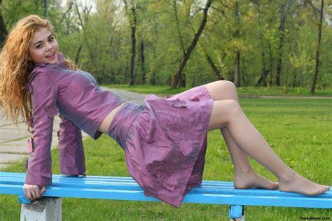 jump pantyhose stocking tights nylon sexy babe redhead gd