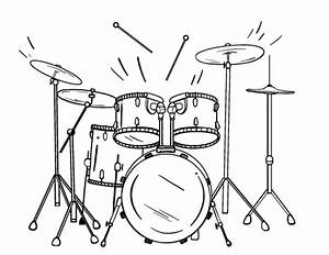 Printable drum coloring page. Free PDF download at http ...