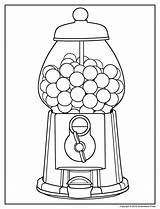 Gumball Machine Coloring Pages Printable Getcolorings sketch template