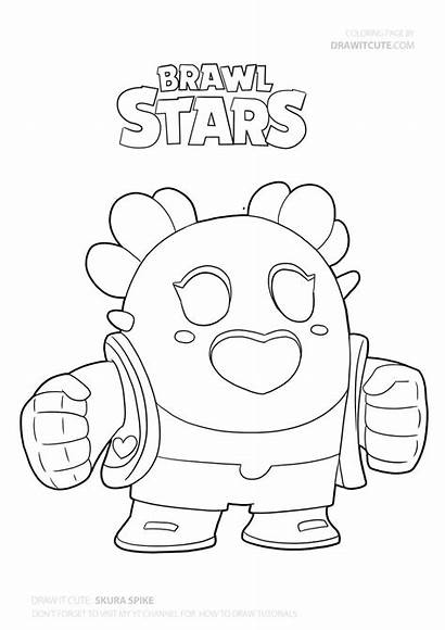 Brawl Stars Coloring Draw Pages Spike Drawing