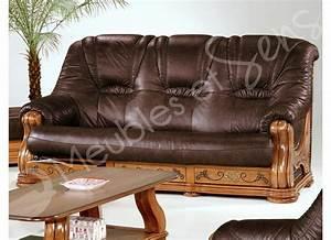 canape en bois massif photos mzaolcom With canapé cuir et bois massif