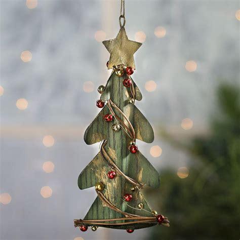 rustic christmas tree ornament home decor