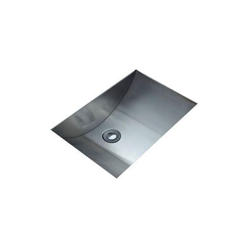 stainless steel undermount bathroom sink filament design cantrio undermount bathroom sink in
