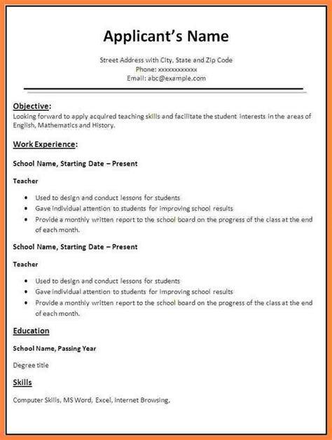 Sle Of Basic Resume Format by 9 Basics Cover Letters Bussines 2017