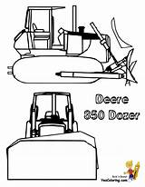 Coloring Pages Bulldozer Deere Sheets Construction Skid Steer John Dozer Machinery Digging Yescoloring Excavator Farm Sheet Ic Template sketch template