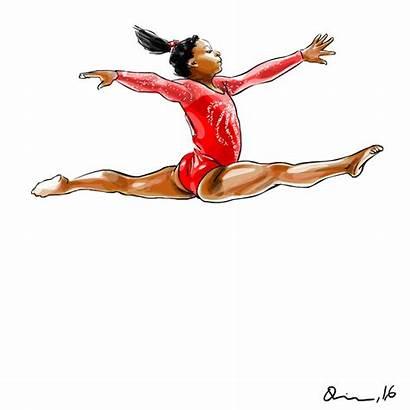 Simone Biles Clipart Press Transparent Sports Background