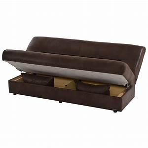 Regata brown futon w storage el dorado furniture for El dorado sofa bed