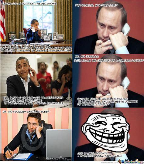 Putin Obama Meme - obama vs putin by prodan meme center