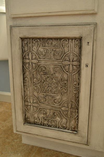 cabinet door  tin tile wallpaper tin tiles tile