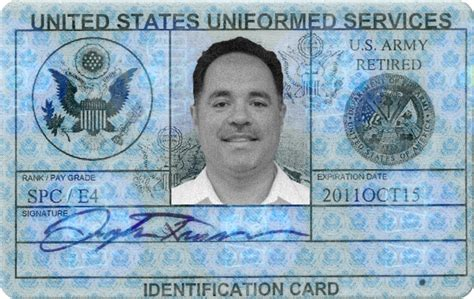 U S Military Retired ID Card | Mungfali