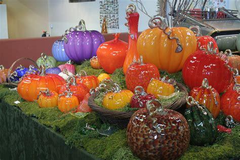 halloween    glass pumpkins richmond