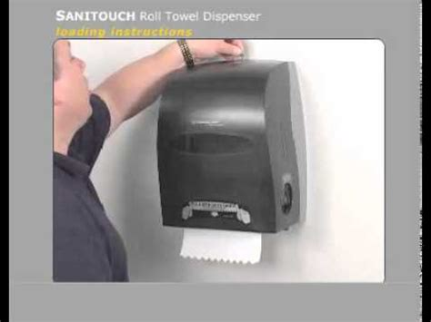 sanitouch manual touchless roll towel dispenser loading