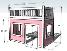loft bed plans white playhouse loft bed diy projects