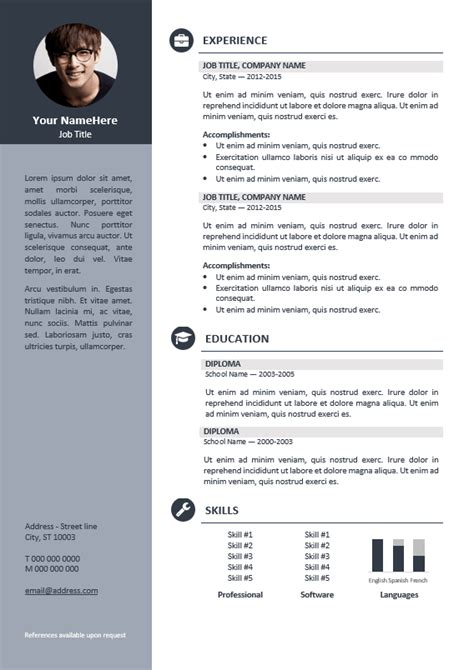Professional Resume Template by Orienta Free Professional Resume Cv Template Gray
