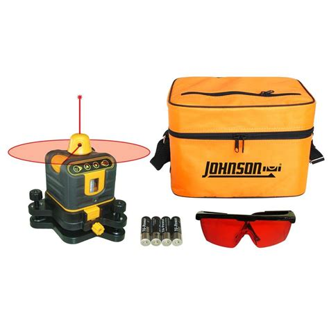 johnson laser level johnson manual leveling rotary laser level 40 6502 the home depot