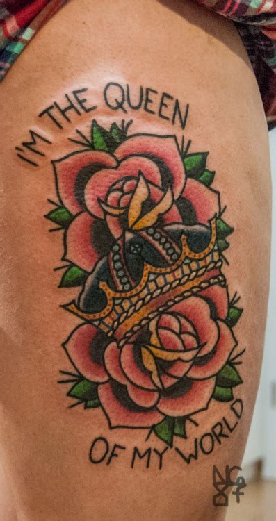 crown tattoos fit   king  queen