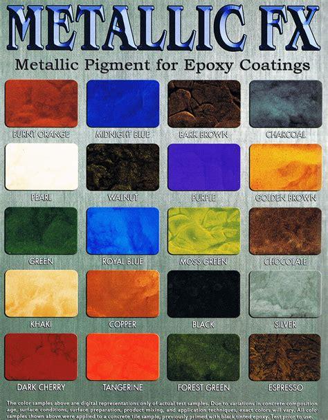 Rustoleum Garage Floor Epoxy Instructions by Concrete Color Charts Stains Surfkoat Chip Coat Metallic