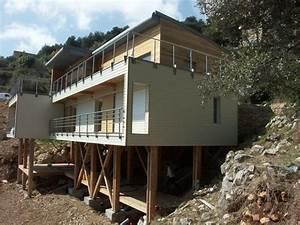 maison contemporaine terrain en pente 7 maison With maison pilotis terrain pente