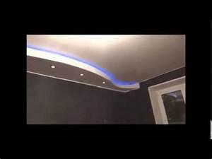 Decoration Faux Plafond : decoration faux plafond placo ba13 avec lumineuse led alger algerie youtube ~ Melissatoandfro.com Idées de Décoration