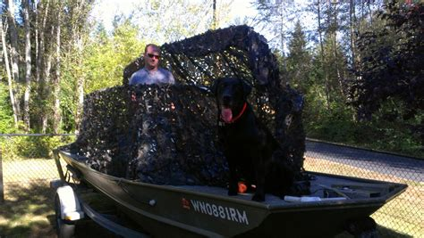 Jon Boat Duck Blind Ideas by Jon Boat Conversion Plans Ken Sea