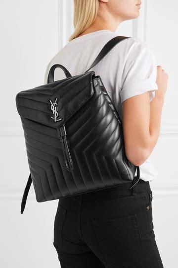 saint laurent monogram loulou ysl medium black calfskin leather backpack tradesy