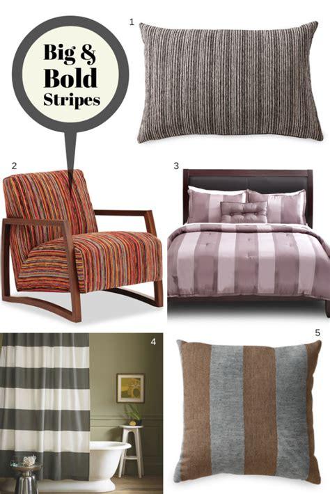 home decor trends big  bold stripes home