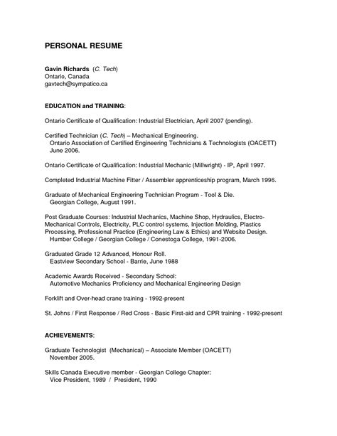 Sle Of Industrial Electrician Resume by Apprentice Photographer Resume Sales Apprentice Lewesmr