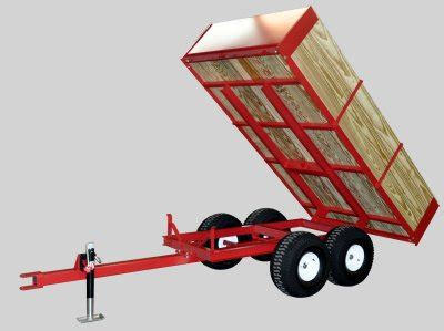 compact tractor wagons tandem axle utility trailers  ton capacity  country mfg